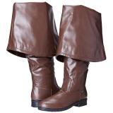 Bruin Kunstleer 4 cm MAVERICK-2045 Overknee Laarzen voor Heren