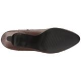Bruin Kunstleer 7,5 cm DIVINE-2018 grote maten laarzen dames