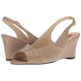 Bruin Kunstleer 7,5 cm KIMBERLY-01SP grote maten sandalen dames