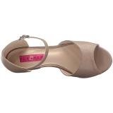 Bruin Kunstleer 7,5 cm KIMBERLY-05 grote maten sandalen dames