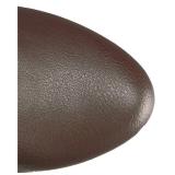 Bruin Kunstleer Wijde schacht 13 cm CHLOE-308 brede schacht overknee laarzen