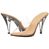 Bruin Transparant 11 cm CARESS-401 Hoge Dames Slippers