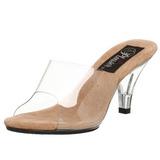 Bruin Transparant 8 cm BELLE-301 Hoge Dames Slippers