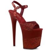 Burgundy Glitter 20 cm Pleaser FLAMINGO-809-2G High Heels Platform