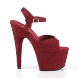 Burgundy Leatherette 18 cm ADORE-709FS high heeled sandals