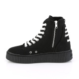 Canvas 4 cm SNEEKER-256 Mens sneakers creepers shoes