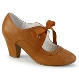 Caramel 6,5 cm WIGGLE-32 retro vintage cuben heels maryjane pumps