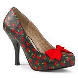 Cherry Pattern 11,5 cm PINUP-05 big size pumps shoes