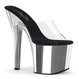 Chrome 18 cm Pleaser RADIANT-701 womens mules shoes
