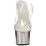 Chroom Transparant 18 cm SKY-302 Platform Hoge Dames Slippers