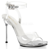 Clear 11,5 cm CHIC-06 High Heeled Stiletto Sandal Shoes