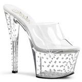 Clear Rhinestone Platform 18 cm STARDUST-701 Women Mules Shoes