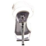 Compleet Transparant 14 cm ALLURE-608 Platform Schoenen met Hoge Hakken
