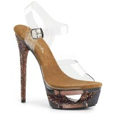 Copper 16,5 cm ECLIPSE-608GT High Heeled Stiletto Sandals