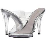 Doorzichtig 12 cm FLAIR-402 dames slippers met hak