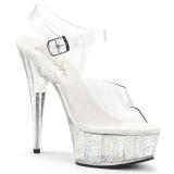 Doorzichtig 15 cm Pleaser DELIGHT-608MG glitter schoenen met hakken