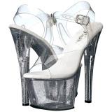 Doorzichtig 18 cm Pleaser SKY-308MG glitter schoenen met hakken