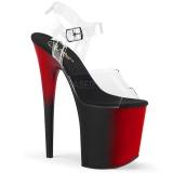 Dual Colored 20 cm FLAMINGO-808BR Platform High Heels Shoes