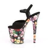 Floral Pattern 20 cm FLAMINGO-809WR Platform High Heels