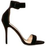 Fluweel 13 cm AMUSE-10 high heels schoenen voor travestie