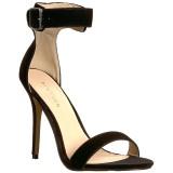 Fluweel 13 cm Pleaser AMUSE-10 sandalen met naaldhak