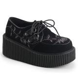 Fluweel 7,5 cm CREEPER-219 creepers schoenen dames dikke zolen