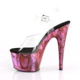 Fuchsia 18 cm ADORE-708SP Hologram plateau schoenen dames met hak