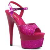 Fuchsia 18 cm ADORE-709-2G glitter platform sandals shoes
