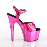 Fuchsia 18 cm ADORE-709HGCH Hologram plateau schoenen dames met hak