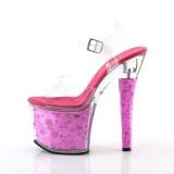 Fuchsia 18 cm RADIANT-708BHG Hologram plateau schoenen dames met hak