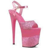 Fuchsia Glitter 20 cm Pleaser FLAMINGO-809-2G High Heels Platform