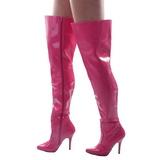 Fuchsia Lak 13 cm SEDUCE-3010 overknee laarzen met hakken
