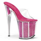 Fuchsia Rhinestone 20 cm FLAMINGO-801SRS womens mules shoes