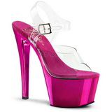 Fuchsia Transparent 18 cm SKY-308 High Heels Platform