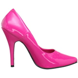 Fuchsia Varnished 13 cm SEDUCE-420 pointed toe pumps high heels