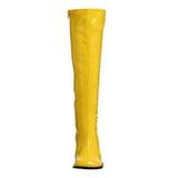 Geel Lak 8,5 cm GOGO-300 Dameslaarzen met hak voor Heren