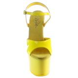 Geel Neon 18 cm Pleaser SKY-309UV Plateau Hoge Hakken