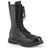 Genuine leather RIOT-14 demonia boots - unisex steel toe combat boots
