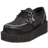 Gestreept 5 cm CREEPER-113 creepers schoenen dames