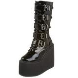 Glimmend 14 cm SWING-220 plateau laarzen dames met gespen