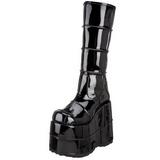Glimmend 18 cm STACK-301 Plateau Gothic Laarzen Mannen