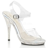 Glitter 12,5 cm Fabulicious POISE-508MG sandalen met naaldhak