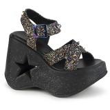 Glitter 13 cm Demonia DYNAMITE-02 lolita sandalen wedge sandalen sleehak