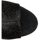 Glitter 15 cm DELIGHT-1018MMG enkellaarsjes open teen