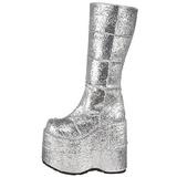 Glitter 18 cm STACK-301G Platform Mens Gothic Boots