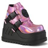 Glitter Vegan 12 cm STOMP-15 lolita ankle boots wedge platform