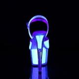 Glitter plateau 18 cm ADORE-710UVG transparante hakken - pole dance sandalen