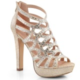 Gold 11,5 cm Pleaser SELENE-24 Womens High Heel Sandals