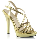 Gold 13 cm Fabulicious LIP-113 high heeled sandals