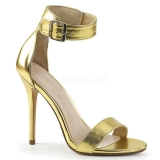 Gold 13 cm Pleaser AMUSE-10 high heeled sandals